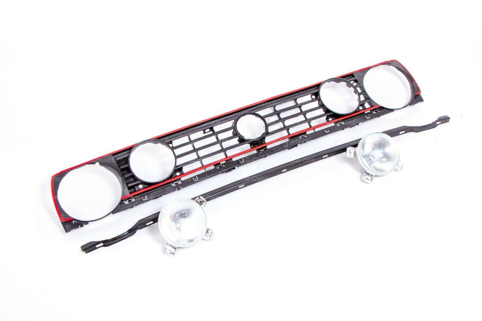 vw golf    rabbit mk2 euro gti quad headlight grill